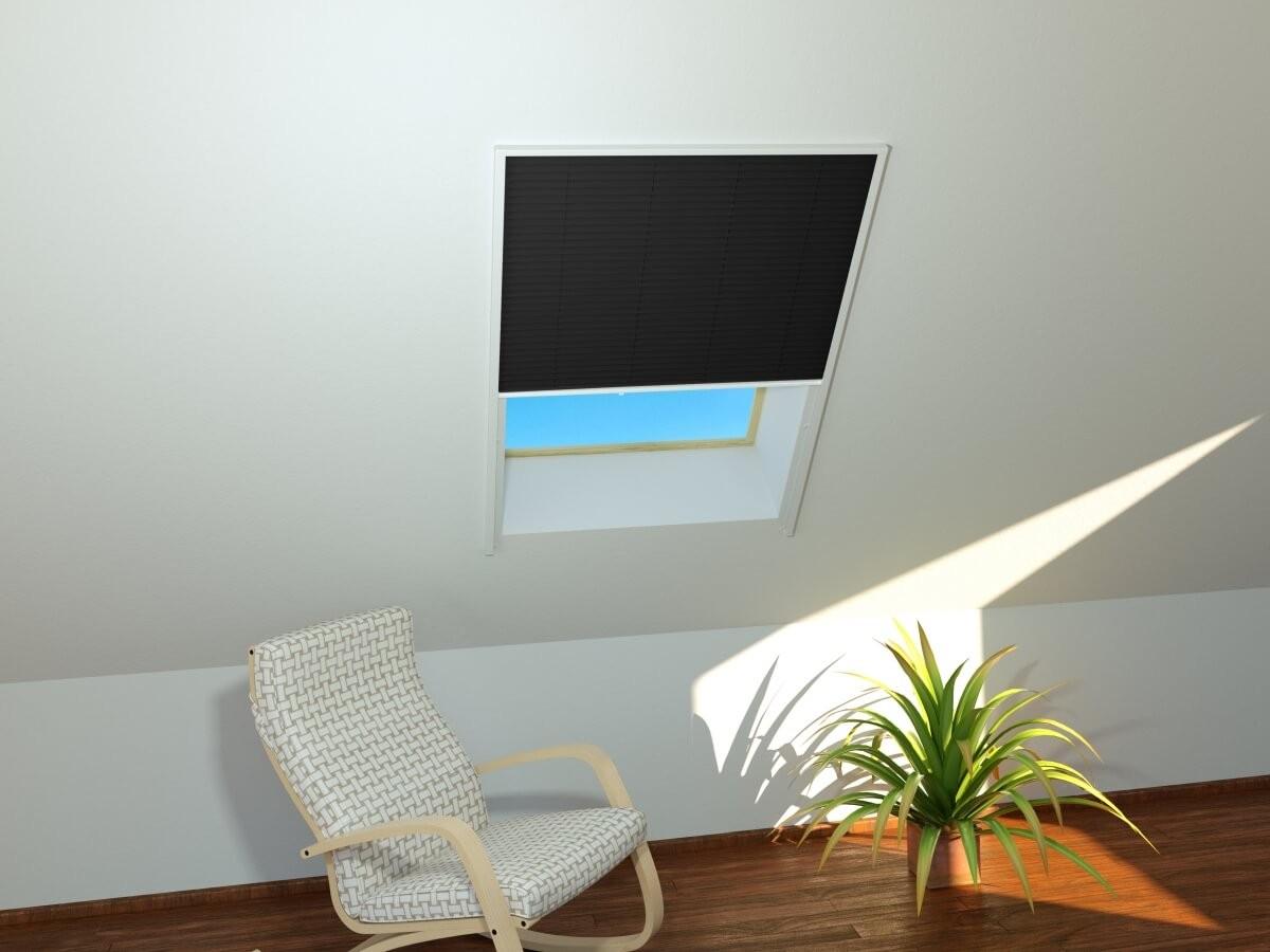 sonnenschutz dachfenster plissee 110x60 cm rollo für dachfenster