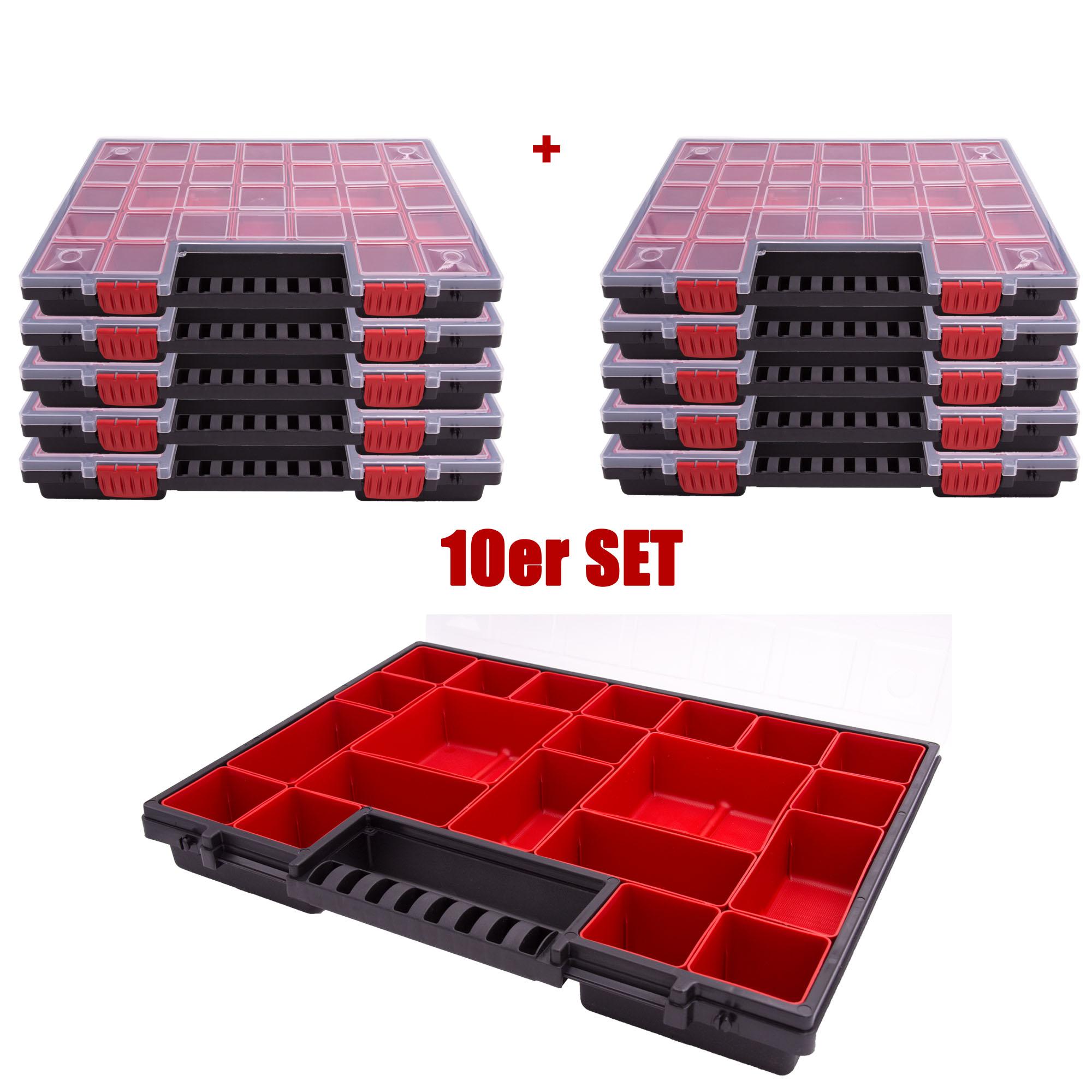 PROFI Sortimentskasten PP gelb 12 Fächer Sortimentskiste Kleinteilemagazin Box