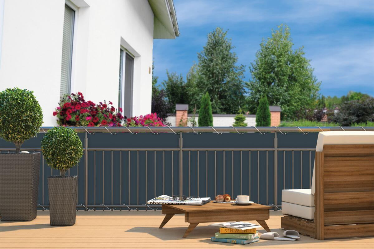 BALKON SICHTSCHUTZ 6x0 9 m Balkonverkleidung & Sichtschutz