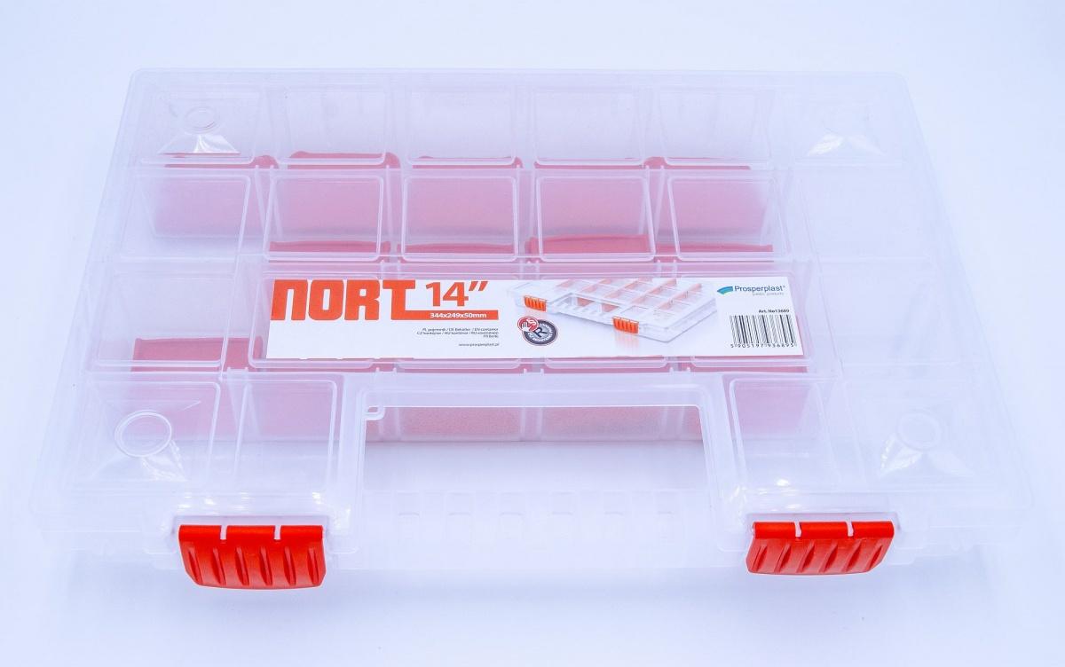 4er Set Sortimentskoffer kasten Kunststoff transparent /& stapelbar 34x24x5 cm