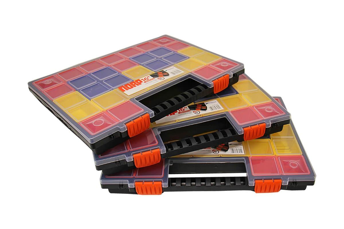 3x sortierkasten sortimentskasten sortierbox k sten norp16 mit 21 bunten f chern ebay. Black Bedroom Furniture Sets. Home Design Ideas